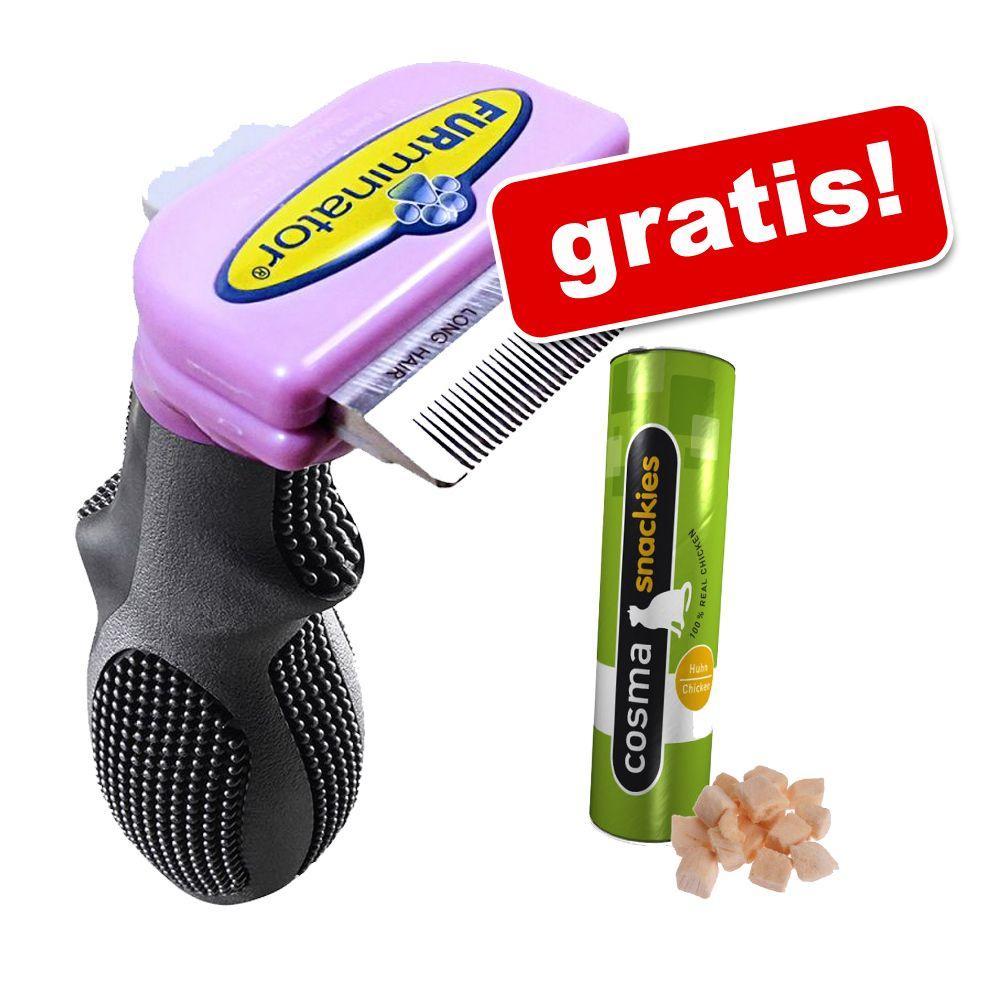 FURminator deShedding Tool + Cosma Snackies på köpet! - Liten katt / lång päls