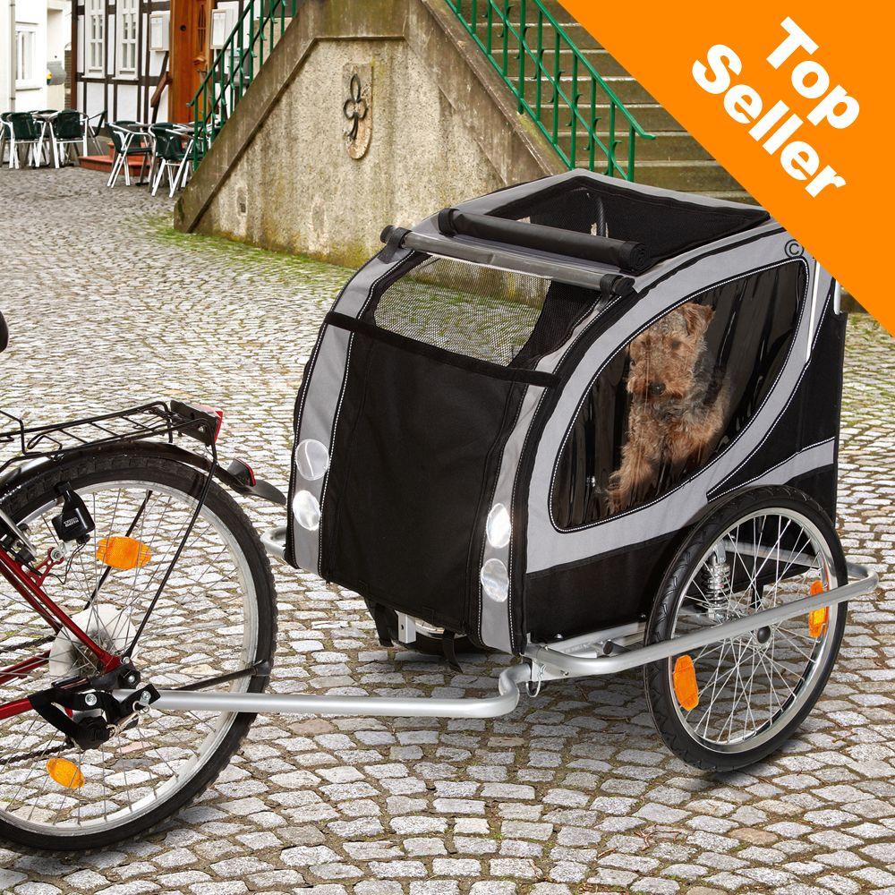 No Limit Doggy Liner Paris de Luxe cykelvagn - L 148 x B 90 x H 88 cm