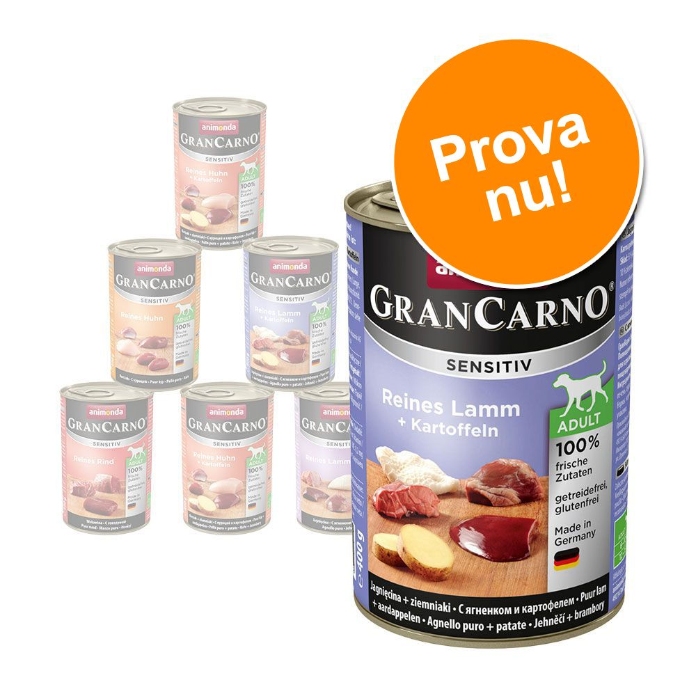 Blandpack: Animonda GranCarno Sensitive - 6 x 400 g