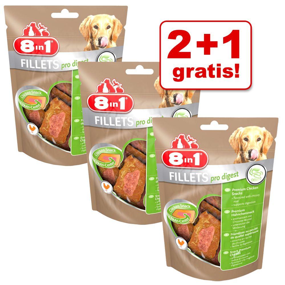 Image of 2 + 1 gratis! 3 x 80 g 8in1 Fillets S Hundesnack - Pro Active
