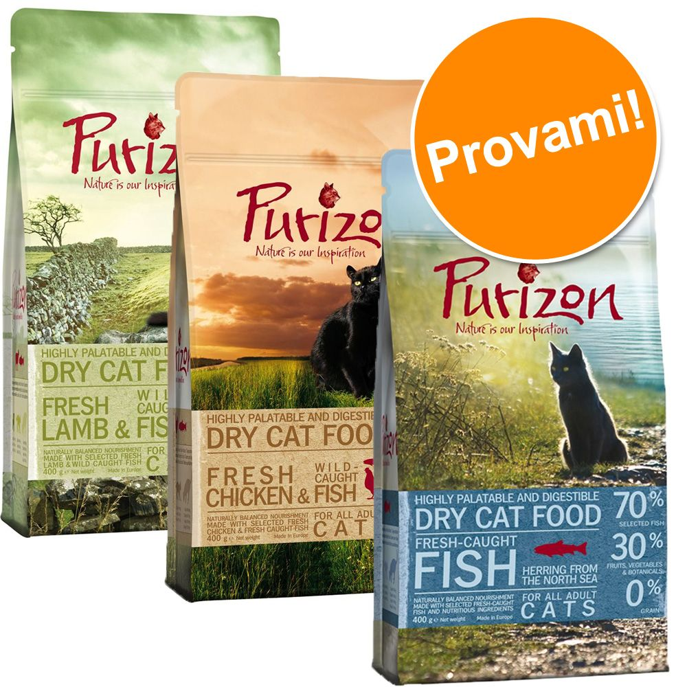 Foto Set prova misto Purizon Adult gatto - 3 x 2,5 kg Purizon Cat