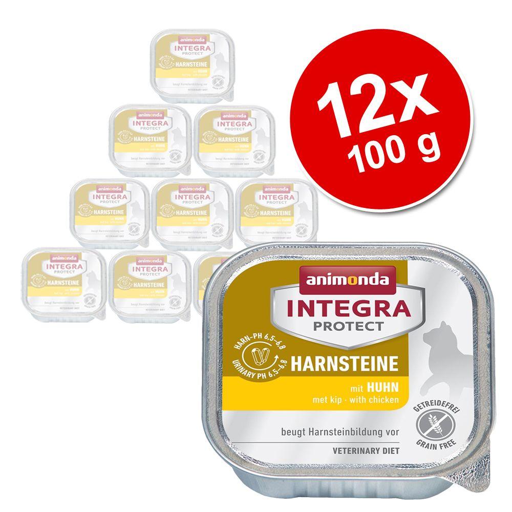 Sparpaket: 12 x 100 g Animonda Integra Protect Adult Harnsteine Schale - Mix (2 Sorten)