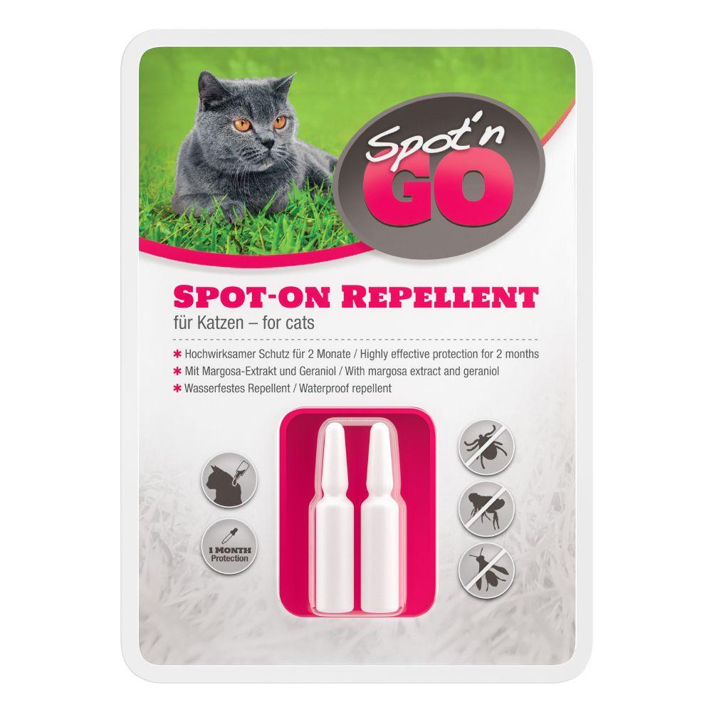Spot'n Go Zecken- und Flohschutzmittel für Katzen - 2 Ampullen je 1,0 ml für Katzen