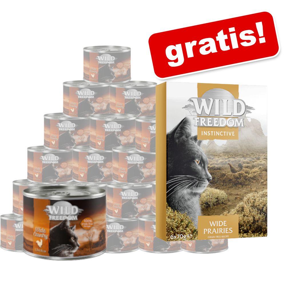 Wild Freedom Knaller: Sparpaket 24 x 200 g + 6  x 70 g  Instinctive gratis - DO NOT ACTIVATE gemischtes Paket