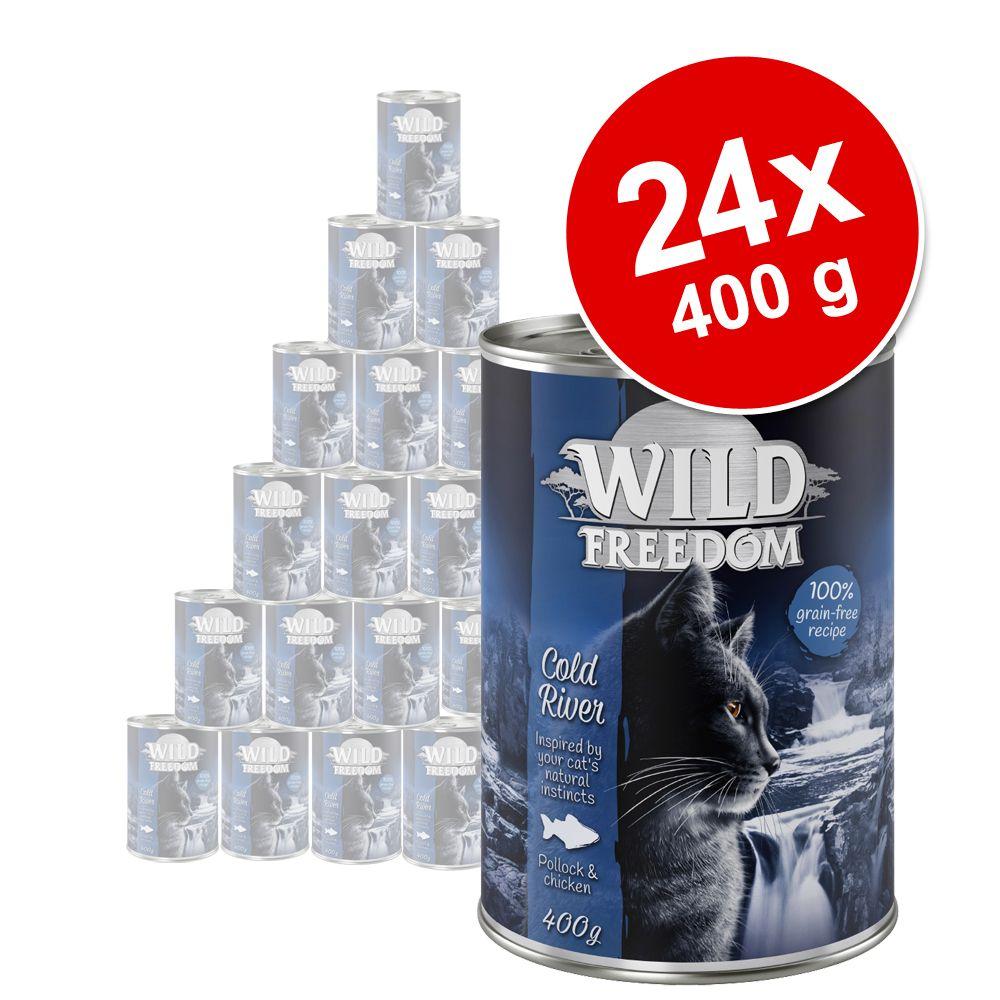 Sparpaket Wild Freedom 24 x 200 / 400 g zum Sonderpreis - Wild Hills - Ente & Huhn 24 x 200 g