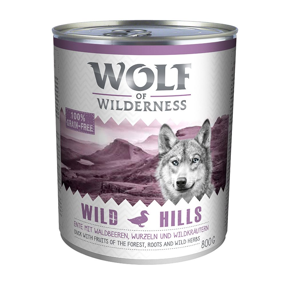 Wolf of Wilderness Adult Saver Pack 12 x 800g - Green Fields - Lamb