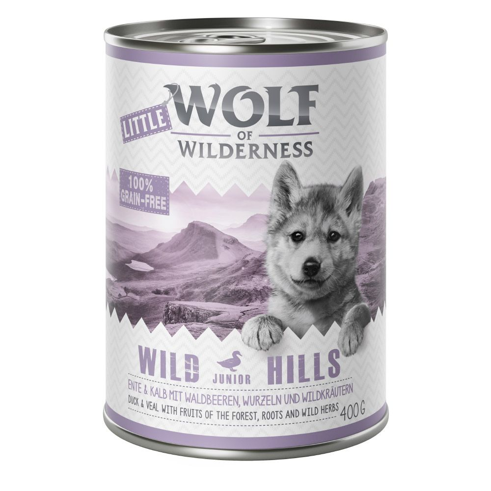 Junior Duck & Veal Wild Hills Wolf of Wilderness Wet Dog Food