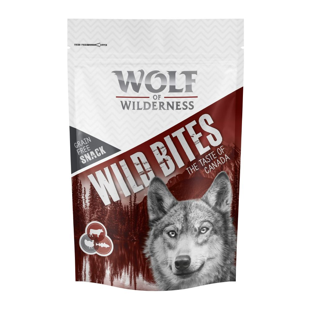 Beef & Cod Taste of Canade Wild Bites Wolf of Wilderness dog snacks
