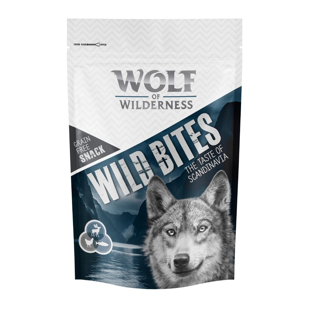 Salmon & Reindeer Wild Bites The Taste of Scandinavia Wolf of Wilderness Dog Snacks