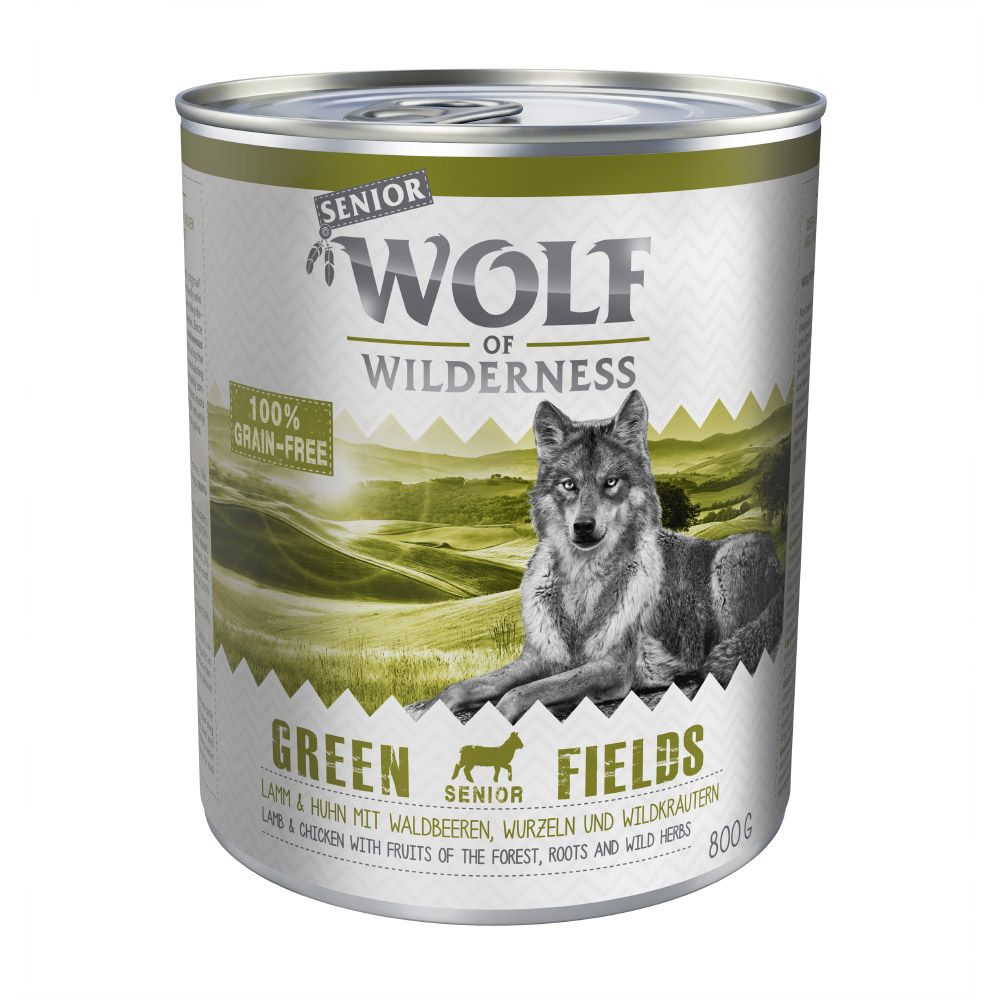 Wolf of Wilderness Senior 6 x 800 g - Green Fields - Lamb & Chicken
