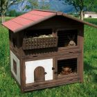 The Kerbl Alpine Hutch Tyrol will bring a taste of the Alps to your garden! The sleeping area on the lower level can be closed off with a sliding door to protect y...
