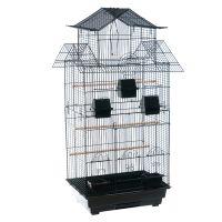 Amilo Cockatiel & Large Parakeet Cage - Black: 54 x 46 x 101 cm (L x W x H)