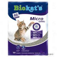 2 x 14 l Biokats Micro Kattenbakvulling