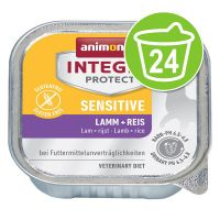 Animonda Integra Protect Adult Sensitive Schaaltje 24 x 100 g Kattenvoer Lam & Rijst