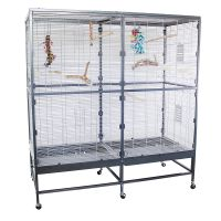 Montana Paradiso 150 Indoor Aviary - Antique/platinum: 150 x 65 x 161 cm (L x W x H) (*2 packages)