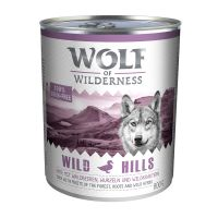 Wolf of Wilderness Adult Saver Pack 12 x 800g - Wild Hills - Duck