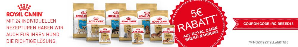5 Euro Rabatt auf Royal Canin Breed