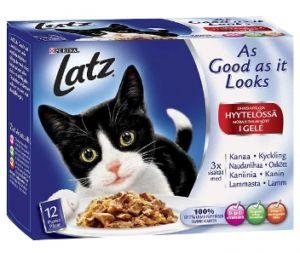 Stort ekonomipack: Latz ''''As good as it looks'''' 120 x 100 g Nötkött, kyckling, anka, lamm
