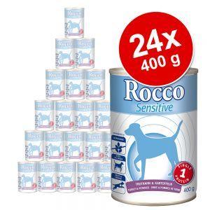 24 x 400 g rocco sensitive - 2 gusti assortiti (agnello & pollo).