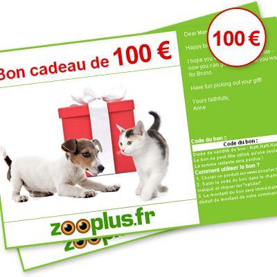 Chèque cadeau zooplus d'une valeur de 100 € - valeur : 100 EUROS