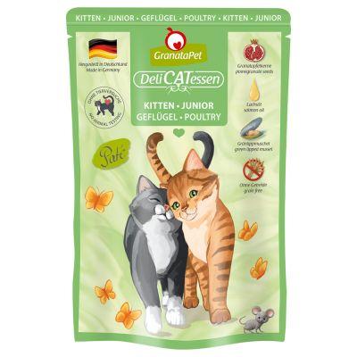 GranataPet DeliCatessen Kitten Pouch, siipikarja - 6 x 85 g