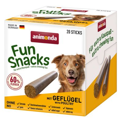 Animonda Fun Snacks - 20 kpl, strutsi