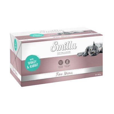 Levně Smilla Fine Menu 8 x 100 g - drůbeží a telecí