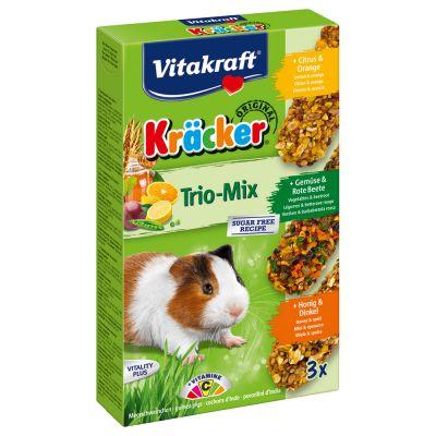 Vitakraft Multipack krakersy dla świnek morskich - 3 x 3 sztuki (miód, owoce, orzechy)