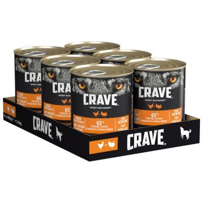 Crave Adult -koiranruoka 6 x 400 g - lammas & nauta