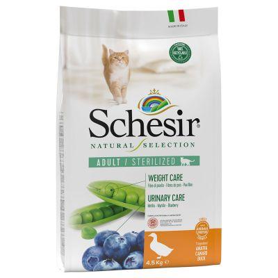 Schesir Natural Selection Adult Sterilized - ankka - säästöpakkaus: 2 x 4,5 kg