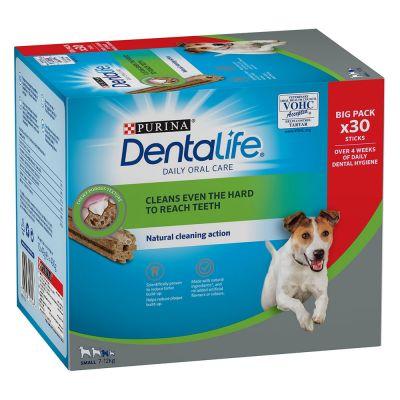 Purina Dentalife -hammashoitoherkut pienille koirille (7-12 kg) - 108 tikkua (36 x 49 g)