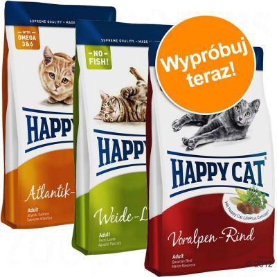 Happy Cat Supreme Adult, 3 x 4 kg - - 3 warianty smakowe