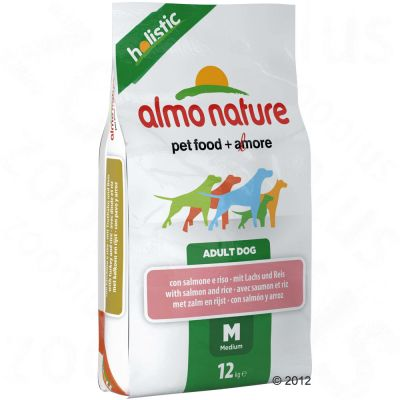 Almo Nature Adult Medium Lax & ris – 12 kg