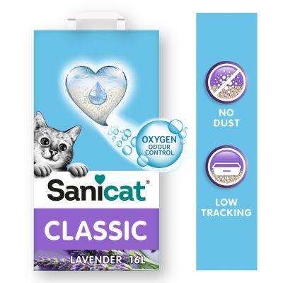 Sanicat Classic Lavendel -kissanhiekka - 2 x 16 l