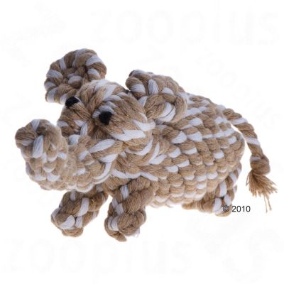Hundleksak djurfigur av bomullsrep – Apa, ca 18 cm