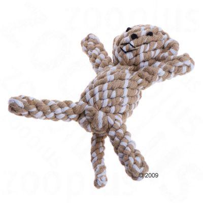 Zvířátko z bavlněného lana opička cca. 18 cm