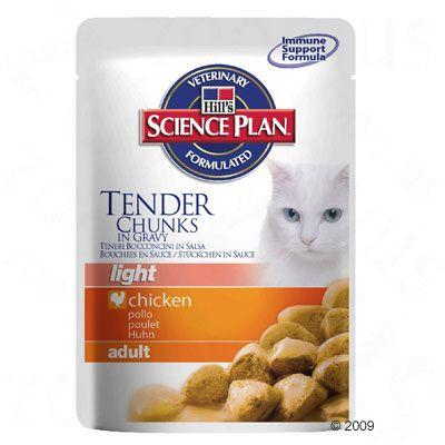 Hill´s Science Plan Feline Adult Light 6 x 85 g pour chat - poulet