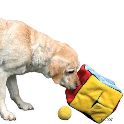 Trixie Pluche Dobbelsteen met 4 speelballen Voordeelpakket: 2 stuks