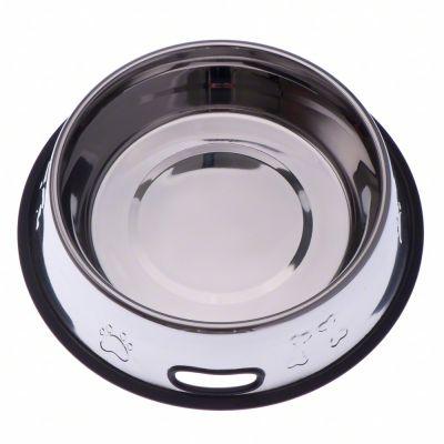 Matskål av rostfritt stål med präglat motiv och gummiring – 0,45 l, 20 cm