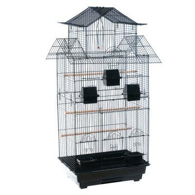 Amilo-lintuhäkki - P 54 x L 46 x K 101 cm, värit: musta / musta