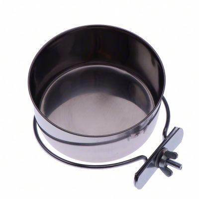 Rostfri skål med skruvfäste – 280 ml, 9 cm