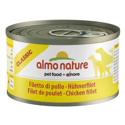 Almo Nature Classic, 6 x 95 g - Filet z kurczaka