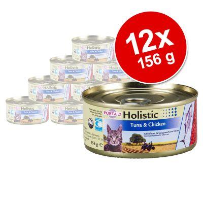 Porta 21 Holistic kattmat 12 x 156 g – Tonfisk och sötpotatis med grönsaker och frukt i gelé