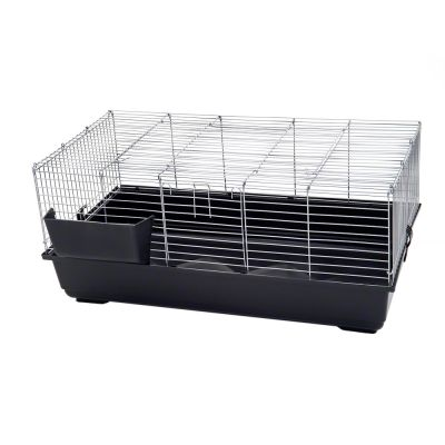 Piggy Basic Rabbit & Guinea Pig Cage - Dark Grey: 100 X 54 X 44 Cm (l X W X H)
