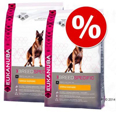 Pack Ahorro: Eukanuba Breed 2 x  7,5/12 kg - Golden Retriever - 2 x 12 kg