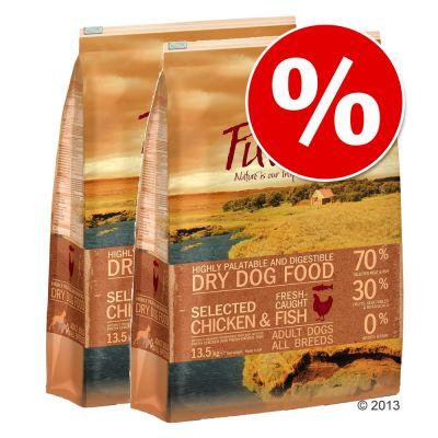 Ekonomipack: Purizon hundfoder 2 x 13,5 kg – Blandpack III: Chicken & Fish + Black Angus & Turkey