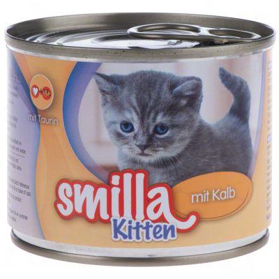 Smilla Kitten 6 x 200 g - mix: kana + vasikka