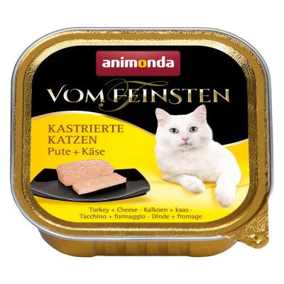 Animonda vom Feinsten for Neutered Cats 6 x 100 g - kalkkuna & taimen