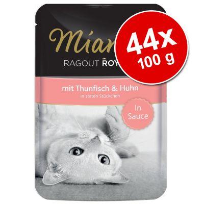 Miamor Ragout Royale in Gravy tai Jelly -säästöpakkaus 44 x 100 g - kalkkuna, in Jelly