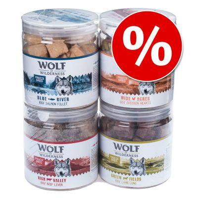 Säästöpakkaus: Wolf of Wilderness - kylmäkuivatut herkut - High Valley - naudanmaksa (360 g)